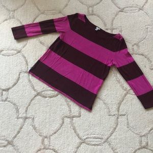 Pink and brown striped JCrew sweater